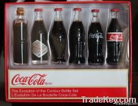 Cola miniature evolution glass bottle set