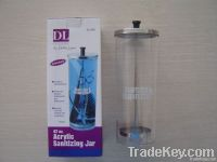 sanitizing jar disinfection jar acrylic jar arcylic jar