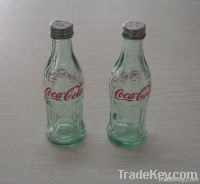 Cola(Coke) salt and pepper glass bottle set