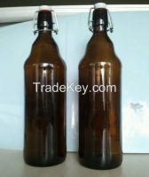 1000ml  Amber glass beer bottle with flip top (IN STOCK)