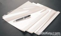 PVC binding cover 250g leather white color binding cover PET bindingco