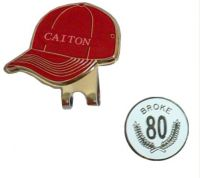 Golf cap clip golf ball marker