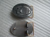 Custom belt buckle antique plating