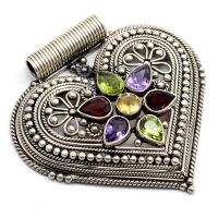 Amethyst, Garnet, Peridot & Citrine 925 Sterling Silver Pendant PG-109162