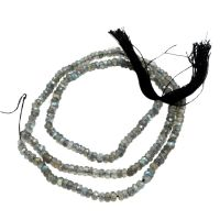 Labradorite Faceted 4 mm Rondelle Shaded Beades Necklace PG 100401