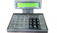 Keyboard with LCD display for retail