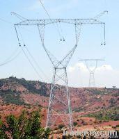 power transmission line steel tower