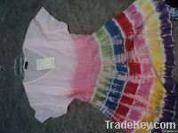 COTTON tie & dye dress for KIDS GIRLS