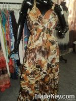 chiffon dress for womens in halter neck
