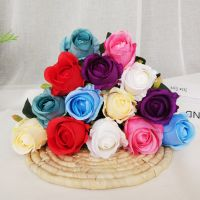 wholesale artificial fake flowers silk artificial roses bridal wedding bouquet for home garden party wedding decoration