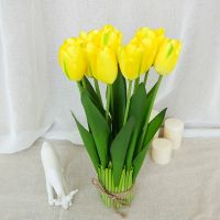 wholesale 12 heads/set real touch tulips artificial flowers for home bfidal wedding festival bar decoration