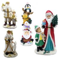 OEM design holiday decoration resin christmas Santa Clause Home party office ornaments