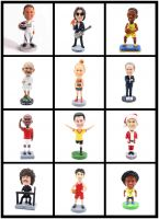 new design OEM gifts crafts resin bobble head doll collection soccer players figurines