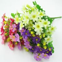 Wholesale artificial flowers and plants polyester silk artificial flower for office home wedding d�©cor