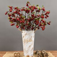 Wholesale 87cm high artificial cherry fruits home decor tree plastic lifelike cherry fruit tree