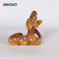 customized resin christmas holiday gift animal decoration resin deer animal statue