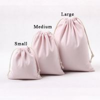 Canvas Storage Bag Natural Color Gift Bag Drawstring Bag Cotton Fabric Pouches