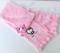 Hello Kitty Pink Scarf Soft Fur With Balls For Girls