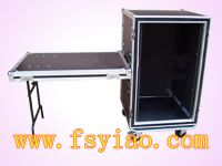 16U Shock mout rack case with stand