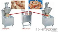 Imitation  shrimp tails and squid rings machine