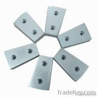 Block  NdFeB magnet with countersink