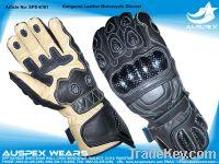 Kangaroo Leather Motorcycle Gloves