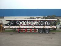 9352TJZPB Flat Bed Container Semi-Trailer-Boggie Suspension