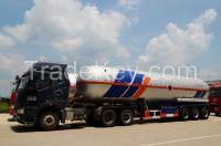 9513GYQ-51000L 3 axles  Liquefied Petroleum Gas LPG Lorry Tank Semi Trailer