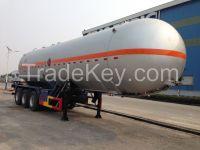 9383GYQ-38000L 3 axles  Liquefied Petroleum Gas LPG Lorry Tank Semi Trailer for Liquid Chloroethylene
