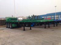 40 feet Container Flat Bed  Semi-Trailer with Tail Cut for container shipment-9353TJZPQW