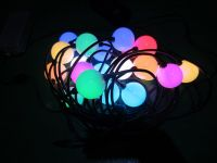 G50  RGB LED ball string light with controller for outdoor use