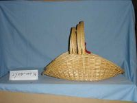 willow basket with hand