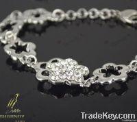 2012 newest ladys flower wedding link bracelet