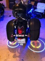 LED Ghost Rider Lights for Motorcycles, Custom Logo Available!