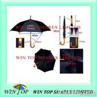 "23"" auto straight wooden umbrella"