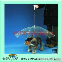 "17"" straight PVC pet umbrella"