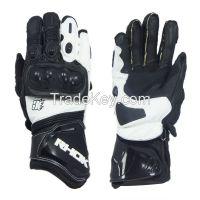 leather motorbike gloves Kevlar lining