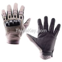 Leather Palm Men's GLOVES Outdoor Sports Full Finger Military Tactical Airsoft Hunting Cycling Bike Gloves