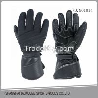 Best quality Warm antiskid polyester Racing motorcycle gloves with cowhide leather