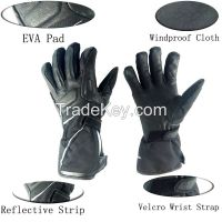 Windproof motorbike racing gloves with carbonfiber protective