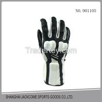 Custom Fashion Lycra Fabric Back Silicone Printing Palm Neoprene Anti Slip Mat Motorcycle Glove for Safety and Sports