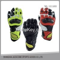 Motorcycle steel drop resistance racing riding Leather Cycling Bicycle gloves