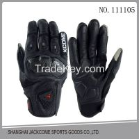 Hot selling new fashion motorcycle leather gloves with custom design