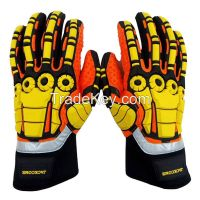 4010 JACKCOME brand Heavy Duty Impact Gloves Oil And Gas safety Gloves