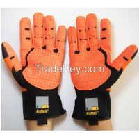 4002 KONG Original Waterproof Impact Resistance Mechanic Safety Gloves for Oil and Gas Industry with orange palm
