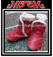 Leather Booties  :Big Big: