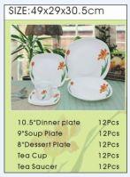 Porcelain square Dinner