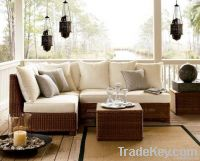 Wicker Rattan Sofa Set