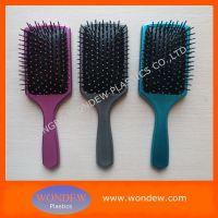 Plastic paddle brush for hair