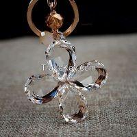 crystal keychain.clovern gift